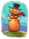 The Original Frosty the Gourdman (colored)